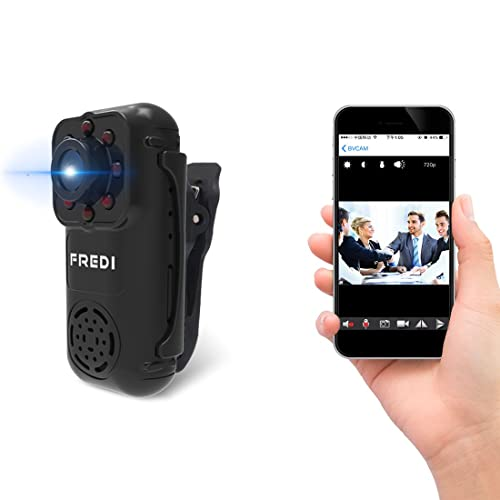 FREDI 720P Mini Portable Hidden Spy Camera Indoor / Outdoor Security WiFi Ip Camera with Motion Detection