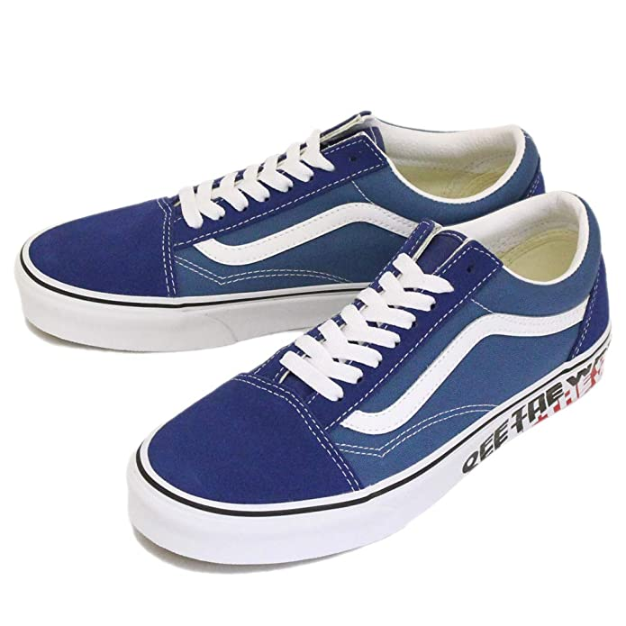 Vans Old Skool Sneaker Damen Herren Kinder Blau Off The Wall Sidewall