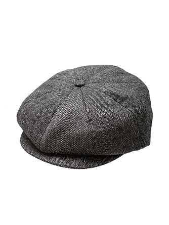 7cc3789fb994c Amazon.com  Born to Love Boy s Vintage Ring Bearer Pageboy Flat Scally Cap  Ivy Newsboy Wedding Tweed Child Golf Cap Hat - Black And Gray - XS(12-24 ...