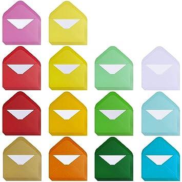 Amazon.com: Supla 140 juegos de mini sobres de colores con ...