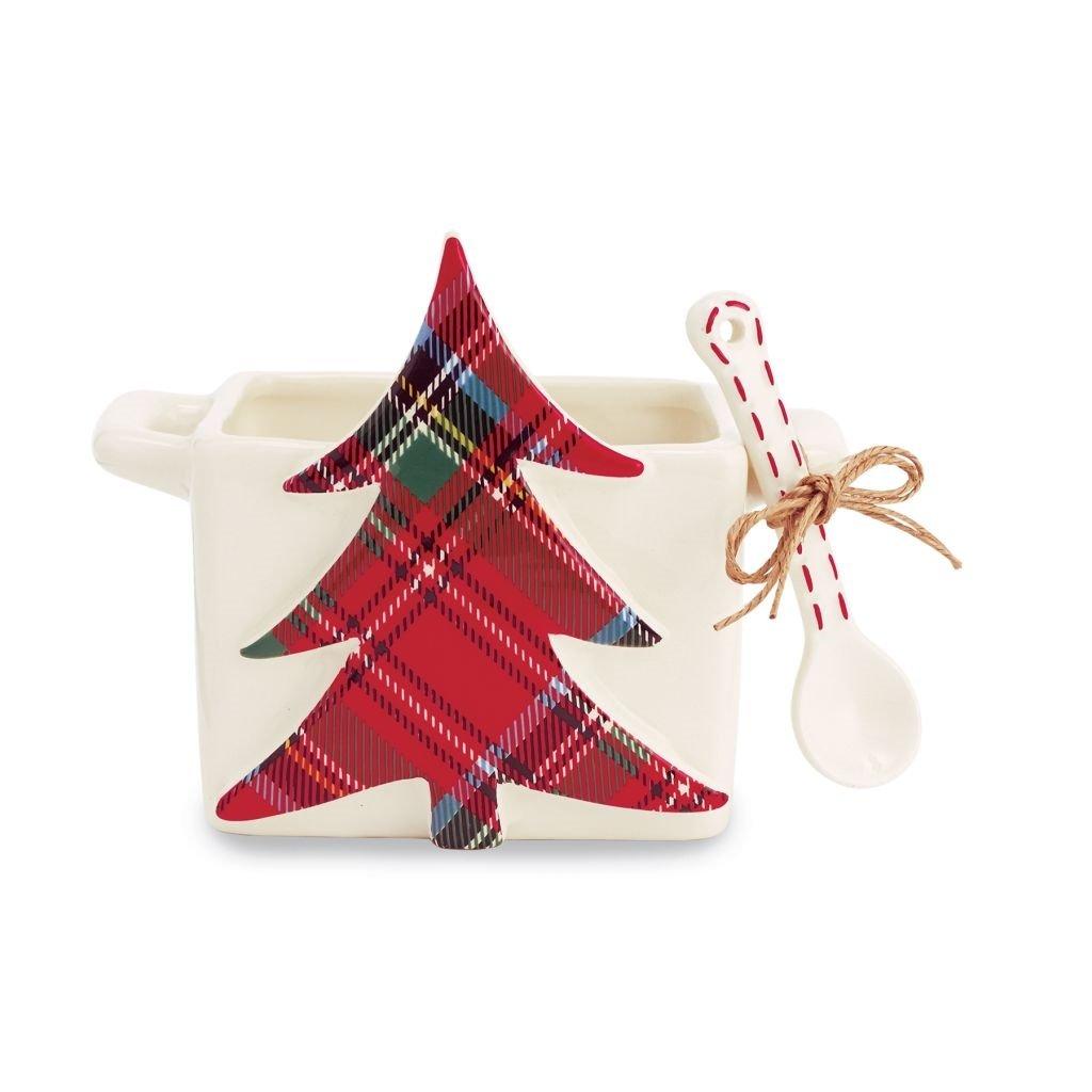 Amazon.de: Mud Pie Weihnachten Tartan Candy Caddy Teller und Löffel ...