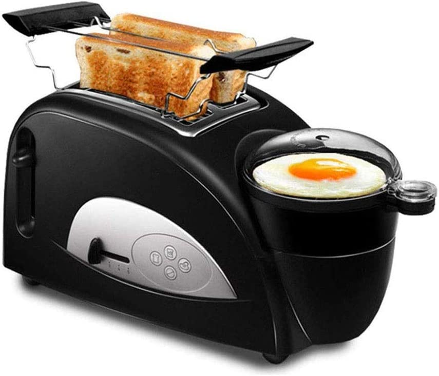 SMLZV 2 in 1 Toaster Pan Cooking Machine,Home Multi-function Non-stick Pan 2-Slice Toaster and Egg Poacher