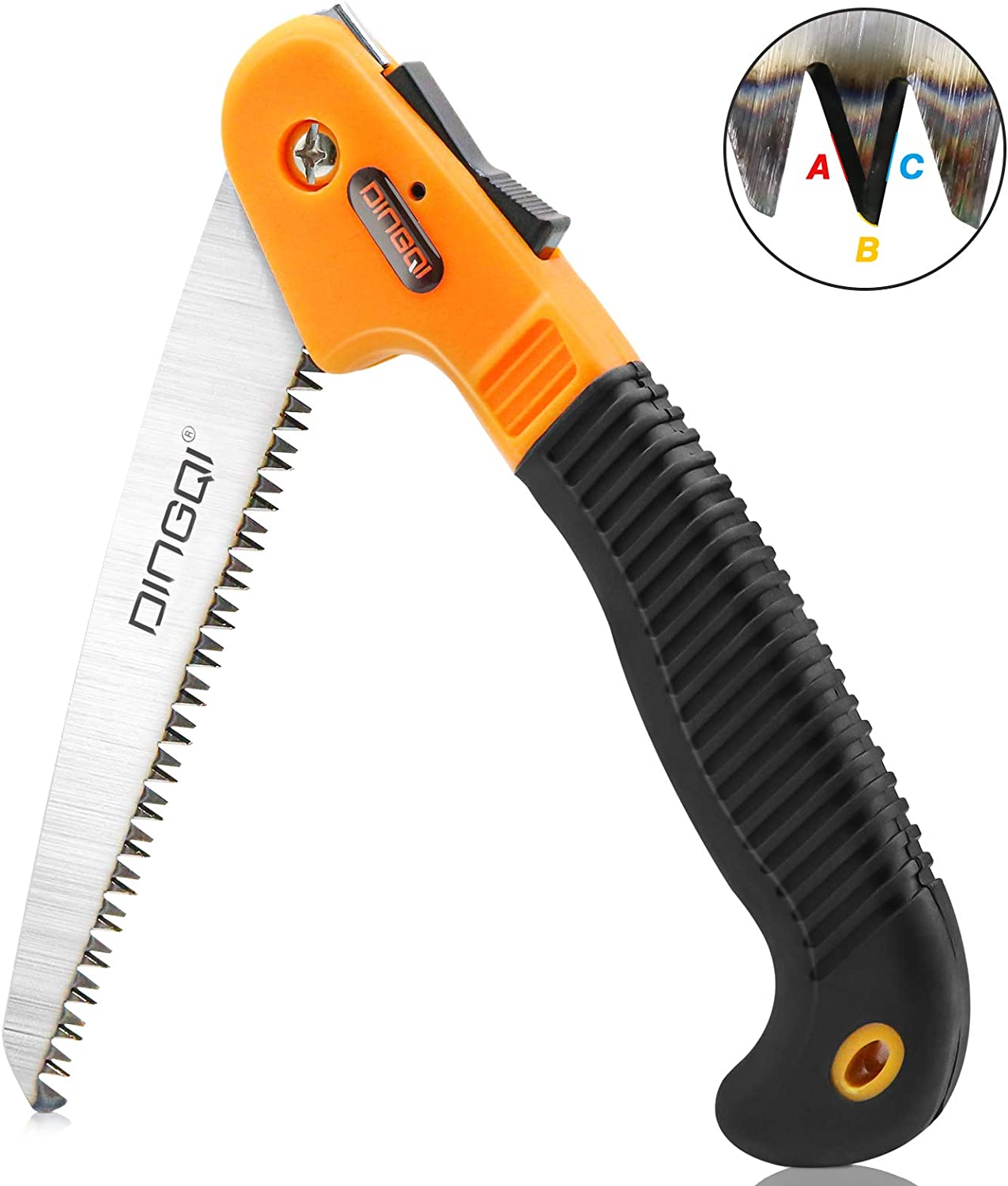 AshelyZ Folding Saw, Pruning Saw with 7 Inch, Hand Wood Saw Sharp Blade with Triple Cut Tooth, No-Slip Handle More Safe, Folding Hand Saws for Camping, Garden Pruning, Hiking is Essential Tools