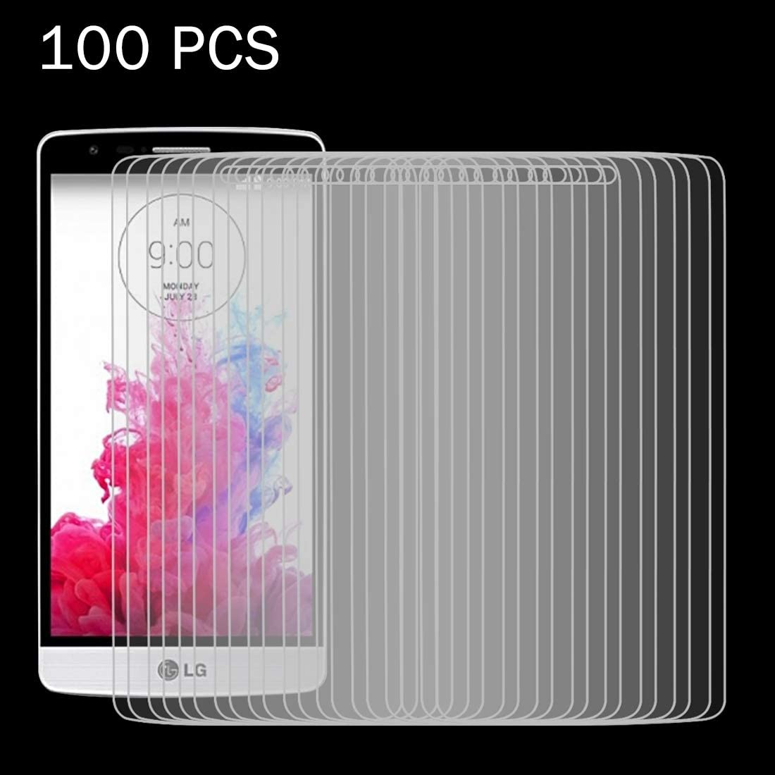 JIN Screen Film 100 PCS for LG G3 Mini 0.26mm 9H Surface Hardness 2.5D Explosion-Proof Tempered Glass Screen Film