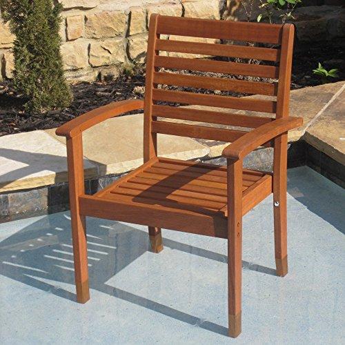 International Caravan Royal Tahiti Oslo Contemporary Patio Chair - Set of (Balau Solid Wood)