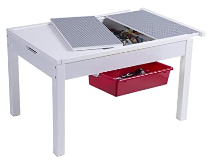 Utex 2 In 1 Kid Activity Table With Storage Compartment And Two