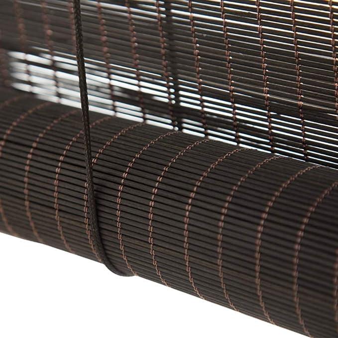 HWF Persiana Enrollable Sombra Exterior de Rodillos Persianas Negras con Ganchos, Sombra Enrollable para Exteriores para Patio Deck Porche Pergola Gazebo Canopy, 85cm / 105cm / 125cm / 145cm Ancho: Amazon.es: Hogar