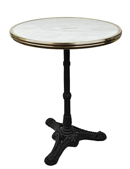 Terrific White Marble French Bistro Table 24 Best Image Libraries Weasiibadanjobscom