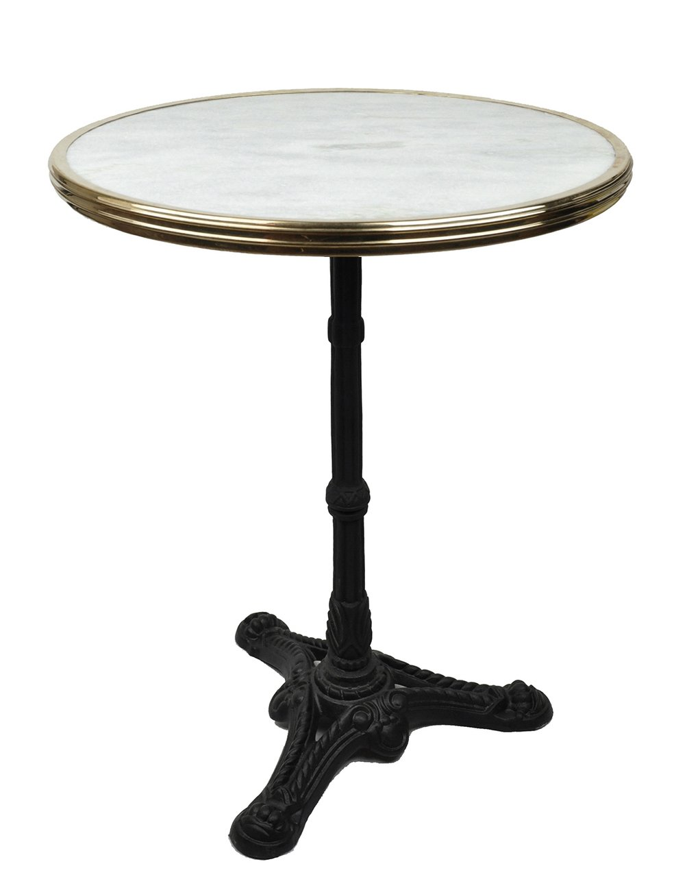 White Marble French Bistro Table, 24''