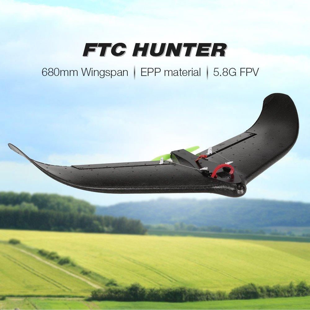 Goolsky FTC HUNTER 680mm Spannweite 800TVL 150 ° Weitwinkel Kamera EPP Delta Flügel Racer RC Flugzeug PNP mit FPV System