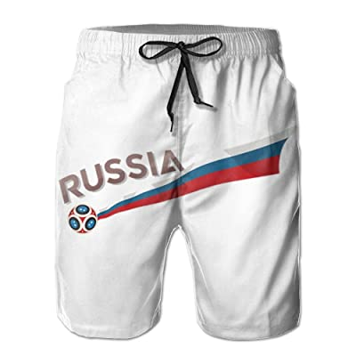 2018 Russia World-Cup Mens Shorts Loose Summer Swimming Trunks Running Swimming and Surfing