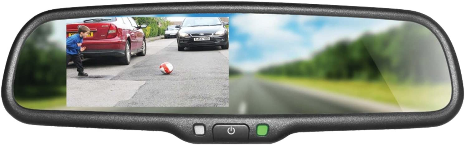 BOYO VTM43M Replacement Rear-View Mirror with 4.3 TFT-LCD Backup Camera Monitor