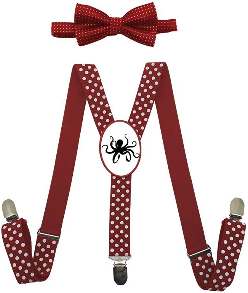 Silhouette Cute Octopus Childrens Fashion Adjustable Y-Type Suspension Belt Suit