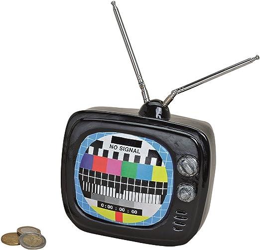 Gran Hucha como tubos-televisor entra en negro 18 cm huchas TV ahorro: Amazon.es: Hogar
