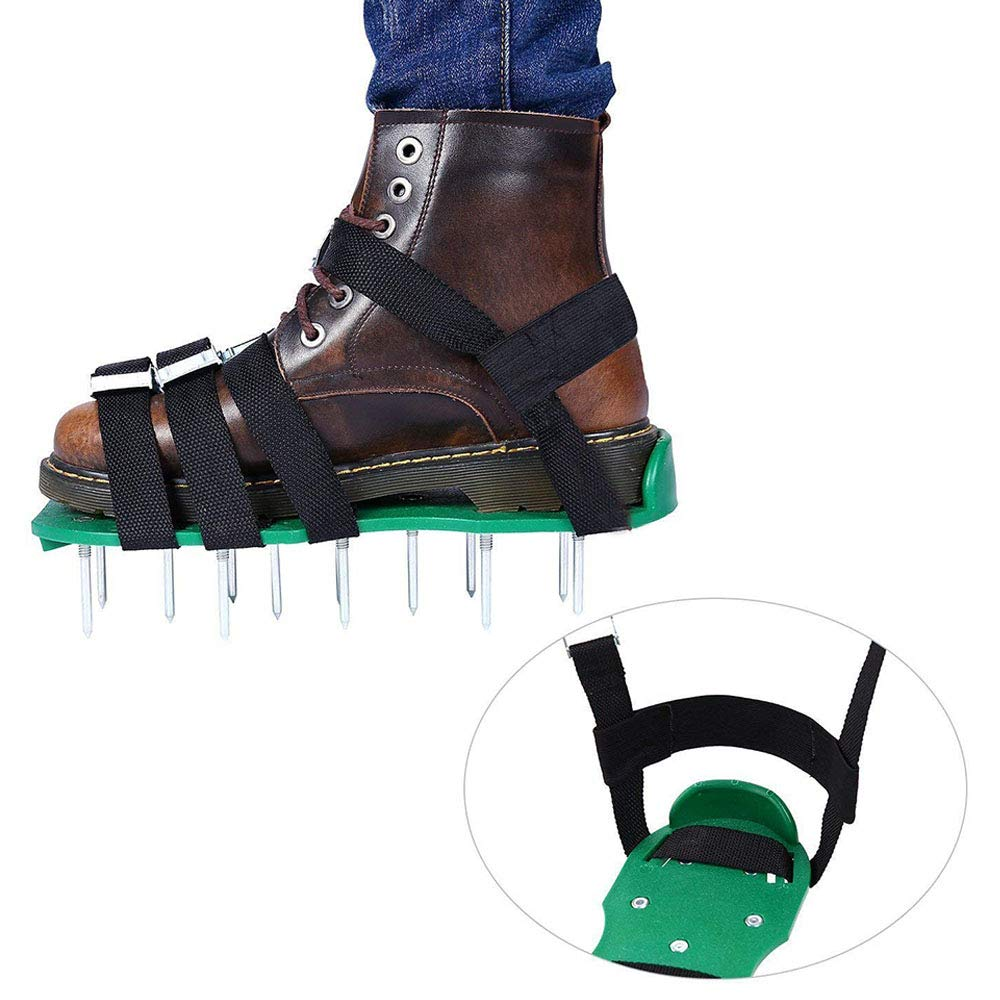 Adjustable Straps Scarifier Lawn Scarifier Lawn Nailer for Your Lawn or Yard 4 Aluminum Alloy Buckled Lawn Sandals Ritte Lawn Aerator Shoes