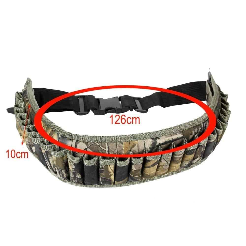 T/áctica Shell Bandolera Cintur/ón 12//20 Gauge Titular de la munici/ón 28 Rondas la Bala del Arma Bolsa Cartucho de Correa de la Correa de la Cintura Bolsa for la Caza SHI-Y-M-ZDD