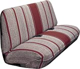 Saddleman Universal Front Bench Seat Cover - Saddle Blanket Fabric (Wine)