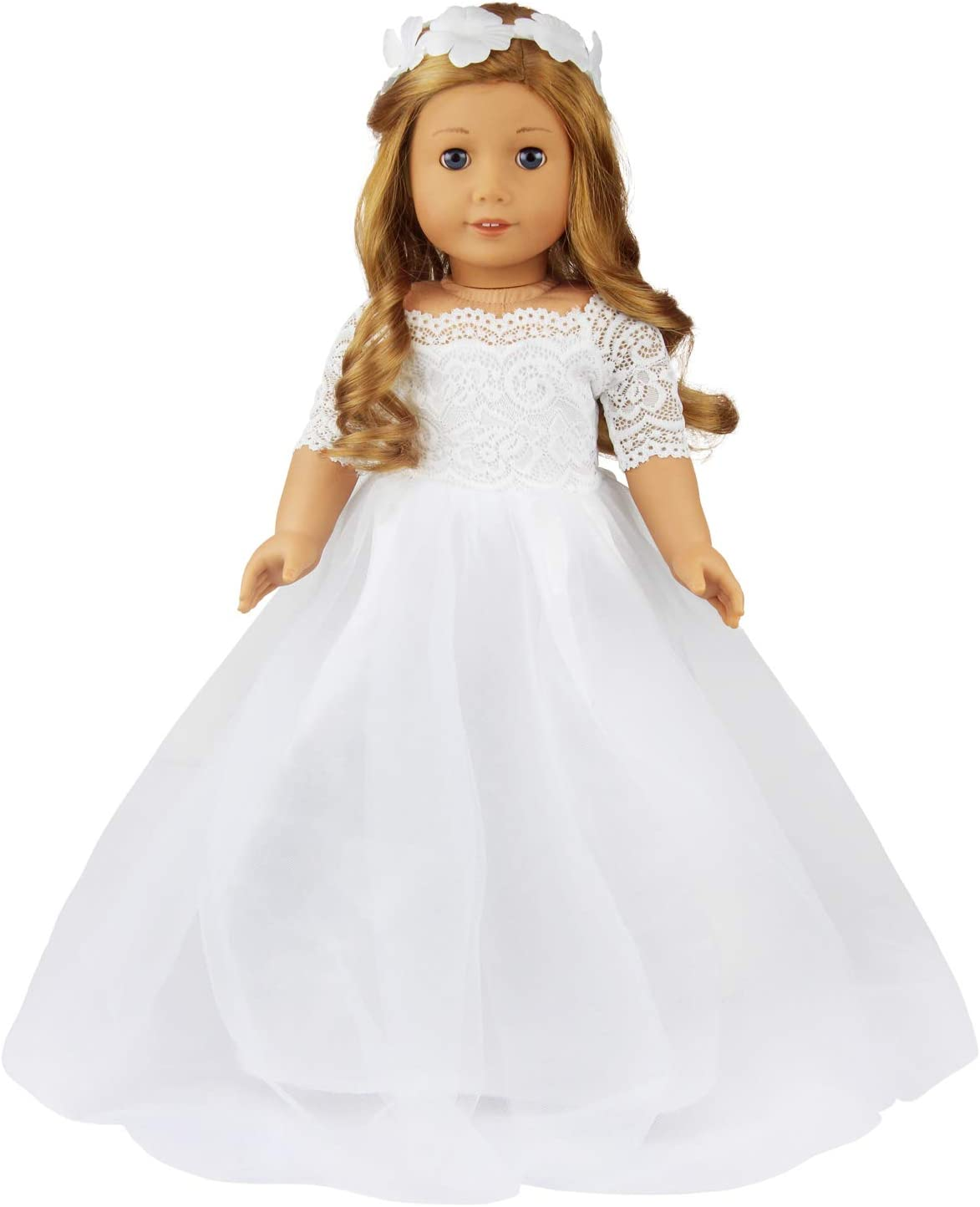 Doll Wedding Dress Fashion Pink Party Outfit For American Girl 18 Inch Toy Gift