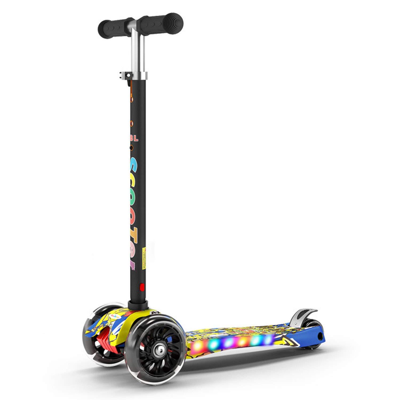 C AIBAB Roller Tretroller Flash-PU-Rad Vierfachverstellung Spielzeug Für Draußen Geschenk Musik-