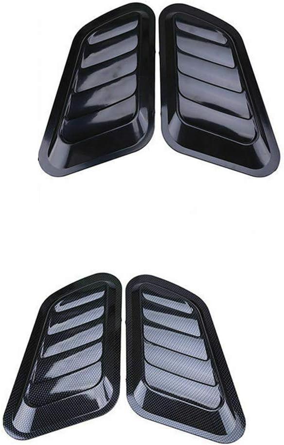Argento Adesivo per auto Copertura decorativa del cofano del cofano di aspirazione del flusso daria in ABS Copertura del cofano