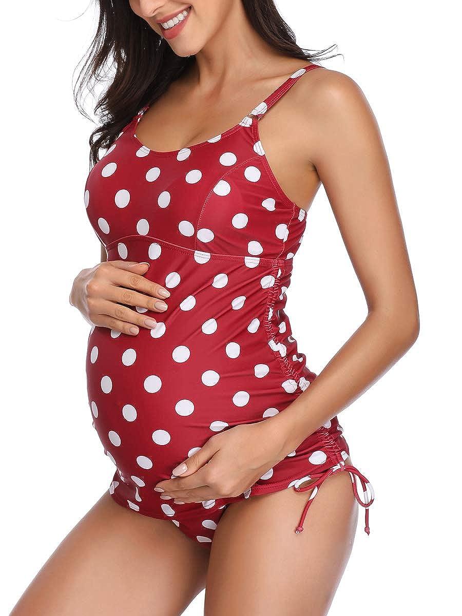 Summer Mae Tankini Halter Embarazo Traje de Baño Dos Piezas ...