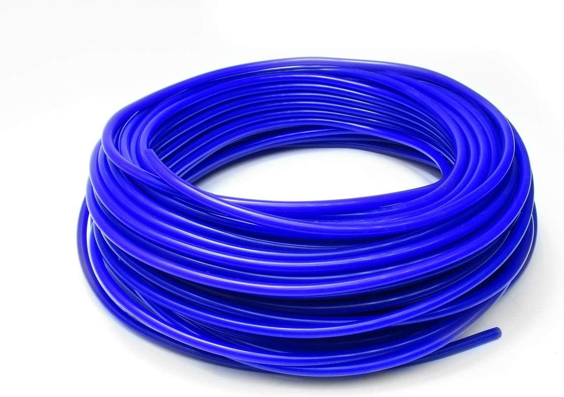 HPS HTSVH35-BLUEx10 Blue 10' Length High Temperature Silicone Vacuum Tubing Hose (60 psi Maxium Pressure, 3.5mm ID)