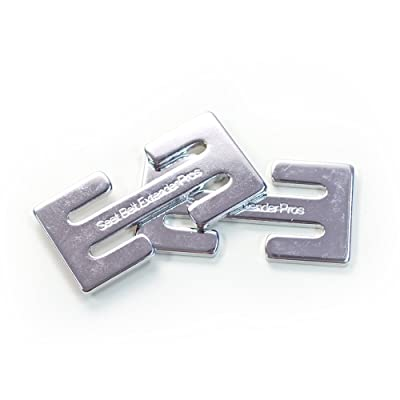 Seat Belt Webbing Clip Accessory - 2 x Locking Clip, Metal - Simply Clip on the Webbing as Needed for Comfort!: Automotive