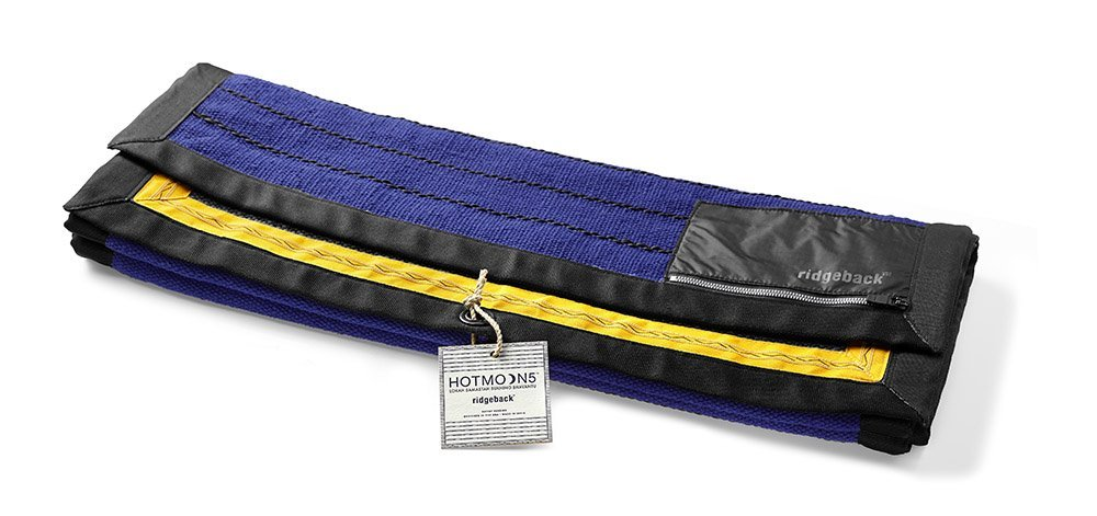 Ridgeback Yoga Rug - Anti-slip, Highly Absorbent 100% Cotton, Won't Move Through Your Entire Practice - Simply Lay Over Mat And Flow (Hand Woven In India - Designed In USA)