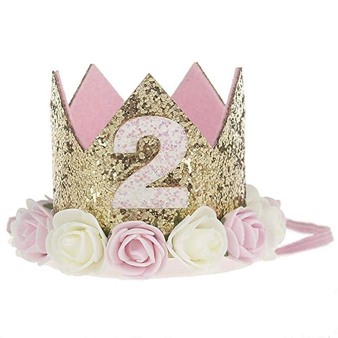 Amazon.com: Gorra de primera cumpleaños, diseño de flor ...