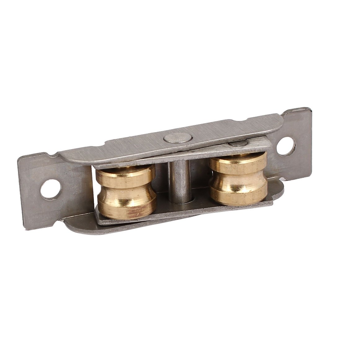 uxcell Stainless Steel Shell Brass Dual Rollers Sliding Window Sash Pulley Wheel 4pcs a17032900ux0896