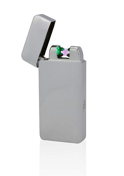 Tesla de Lighter T10 Photo Sensor Luz Arco – Mechero USB recargable Double Arc Plata