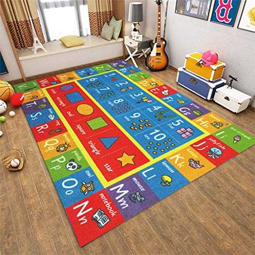 Weiliru Children Education Collection Rugs, Numbers and Shapes Educational Area Rug -