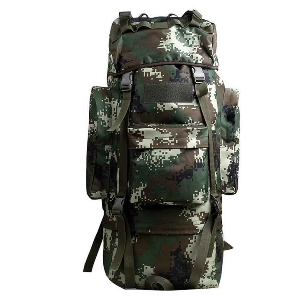 100Lアウトドアスポーツハイキングバックパックショルダーバッグ、オックスフォード布防水男性と女性大容量ハイキングリュックサック、アウトドア旅行荷物袋カモフラージュ戦術袋  C B07KVBGN8W