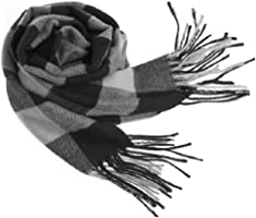 Men Women Winter Warm Scarf Simple Elegant Casual Soft Plaid Scarves