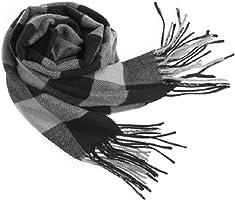 Men Women Winter Warm Scarf Simple Elegant Casual Soft Plaid Scarves