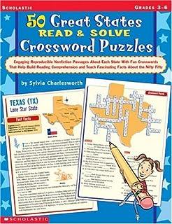 Amazoncom US Map Crosswords Grades 48 9780590769921 25 Map
