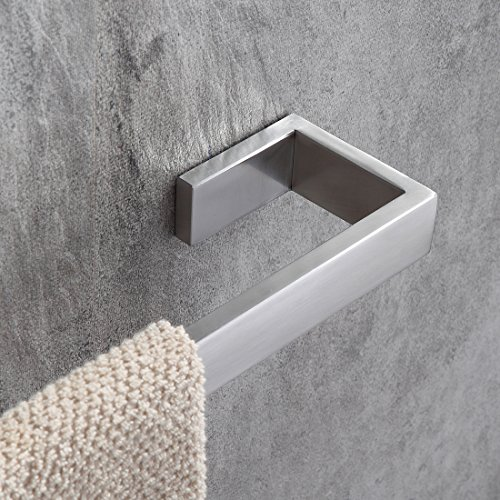 Fapully Stainless Steel Bathroom Accessories Hardware Wall Mounted Towel Bar Rack Brushed Nickel