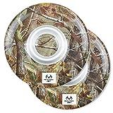 "DII, Real Tree Chip & Dip Platter, Melamine, Set of 2, 12"" Diameter , Green Camo"