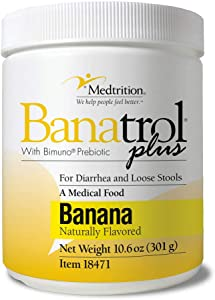 Fast Natural Anti-Diarrhea Medicine Relief Kids, Adults |Banatrol Plus| Banana Flakes and Prebiotic| 28 doses