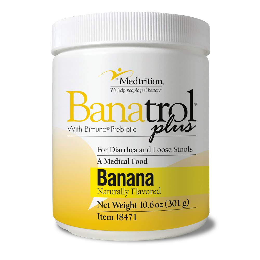 Fast Natural Anti-Diarrhea Medicine Relief Kids, Adults |Banatrol Plus| Banana Flakes and Prebiotic| 28 doses by Medtrition