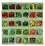 Set of 30 Pack Vegetable & Herb Seeds 30 Varieties Create a Deluxe Garden All Seeds are Heirloom, 100% Non-GMO! by Black Duck Brand 30 Different Varieties