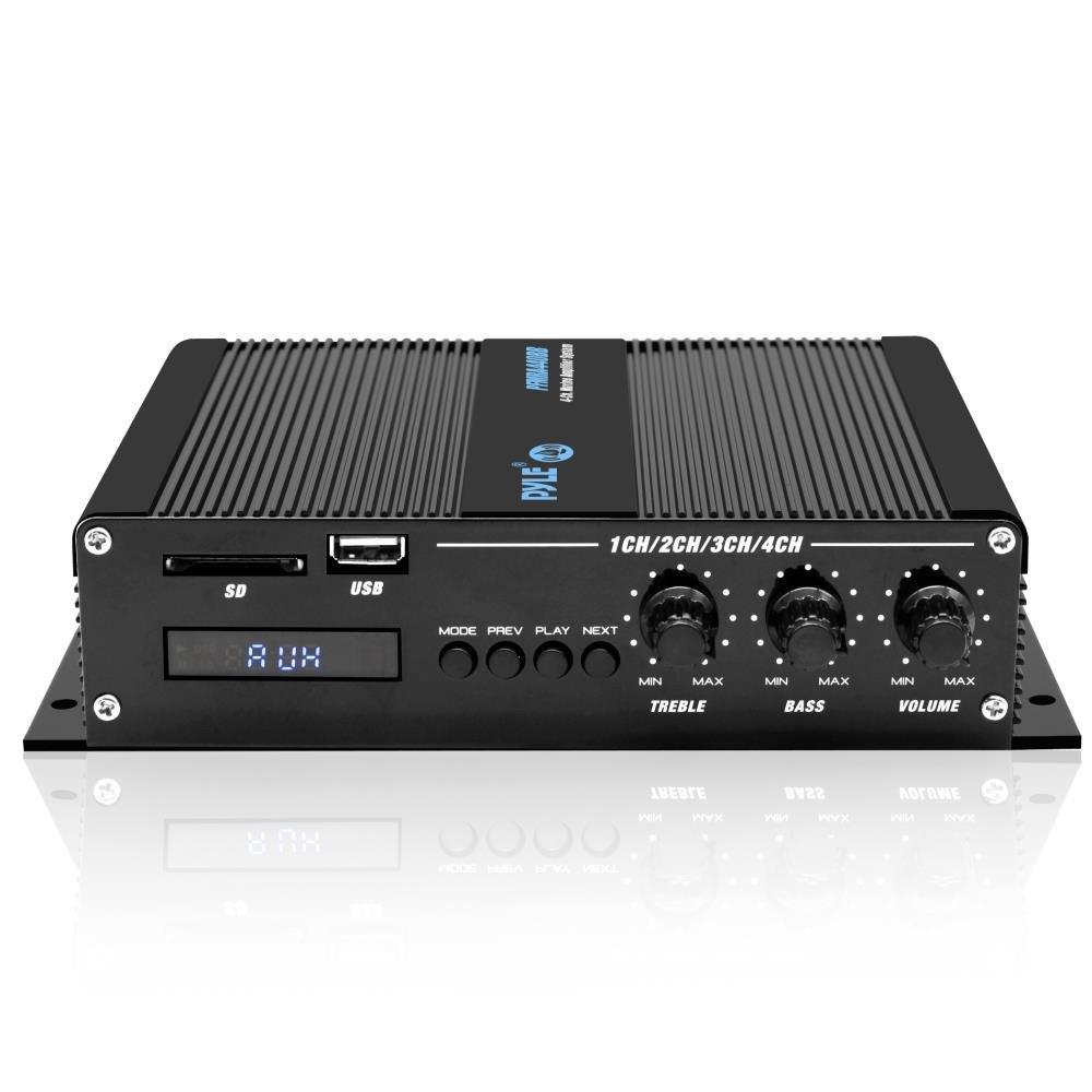Amazon.com: Pyle 4 Channel Marine Amplifier - Compact Power 400 Watt ...