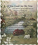 Virah Bella If you could see me now Religious Poem Quilted Throw Blanket