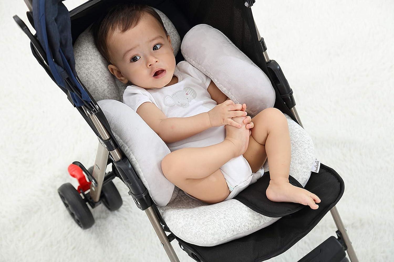 Autositzeinlage mit Nackenst/ütze f/ür Babyschale und Kinderwagen vocheer Baby-Kinderwagen-Kissen Kopfst/ützkissen f/ür Neugeborene