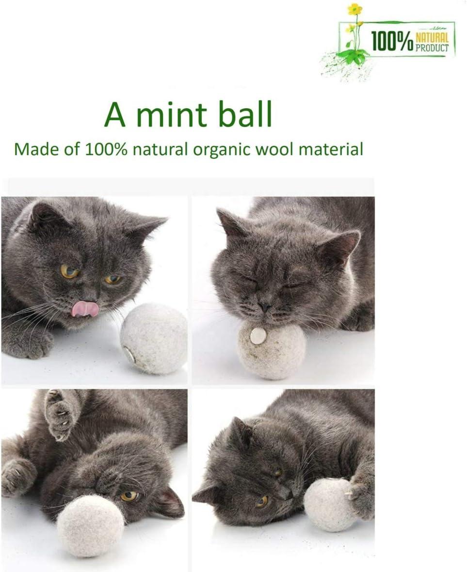 Bolas de juguete para gatos de 12 piezas Pelota de felpa port/átil para mascotas con plumas y hierba gatera juguete para jugar a gatos suave blanco gris marr/ón juguete para gatos para mascotas