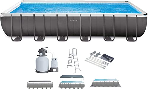 Intex 26363EH 24ft x 12ft x 52in Ultra XTR Frame Above Ground Swimming Pool Set w/Sand Filter Pump