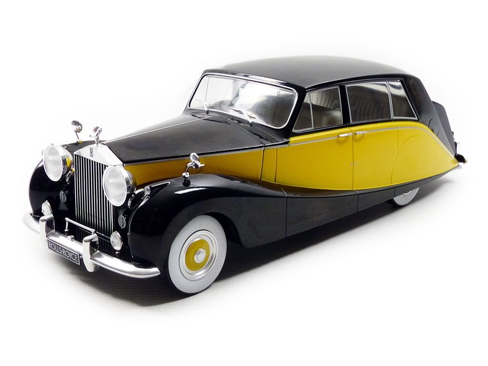 MCG – 18066bky – Modellbau – Royce Silber Wraith Wraith Silber Empress by Hooper – 1956 – Echelle 1/18, schwarz/gelb 90baed