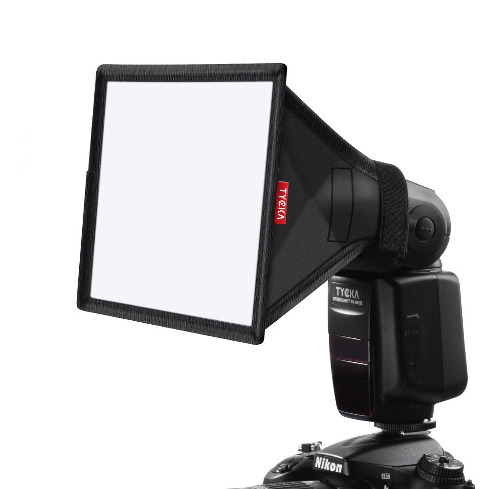 TYCKA Flash Softbox Diffuser Kit (Universal, Collapsible) Include 6x5 inches, 9 x 7 inches, 13 x 8 inches for Nikon, Canon, Sony, Yongnuo and Other DSLR Flash