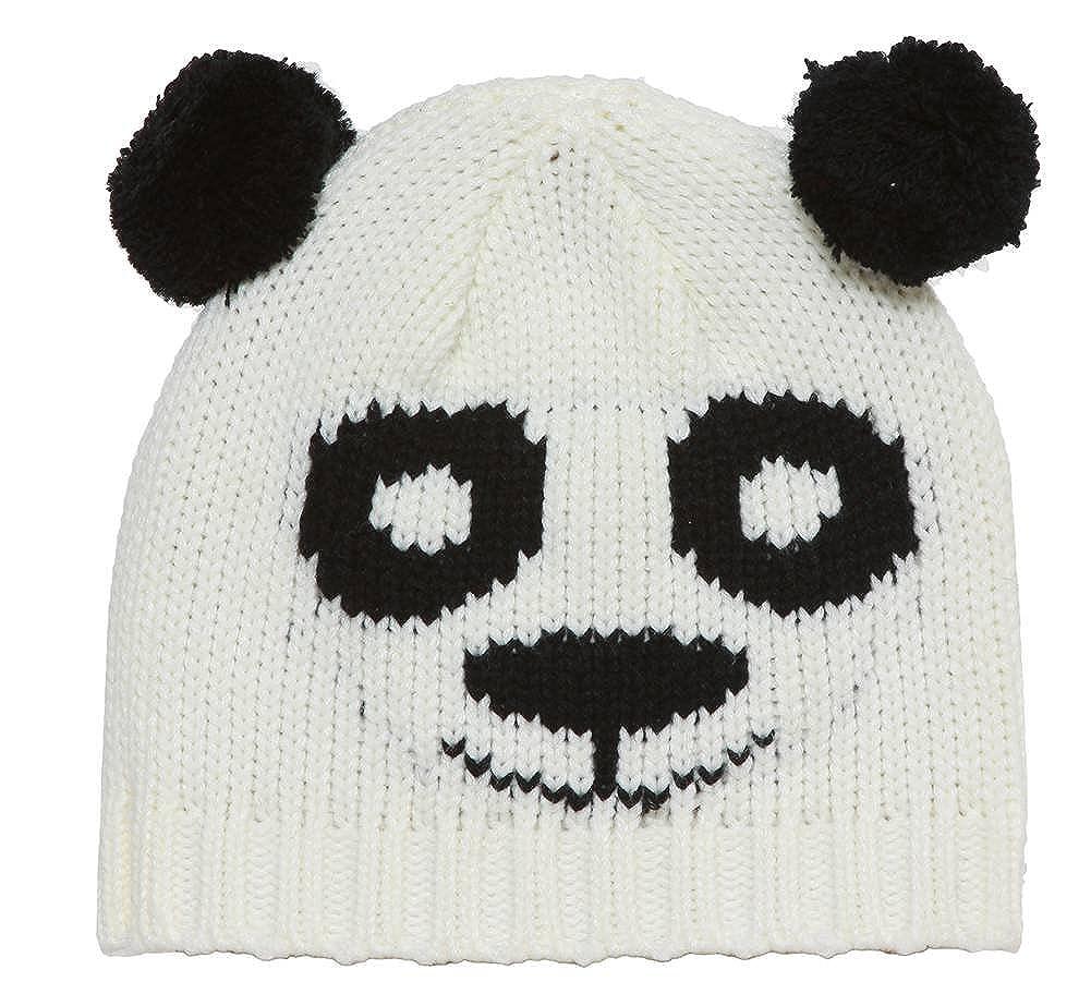 Black//White 2 Pack TOP HEADWEAR Youth Panda Bear Beanie