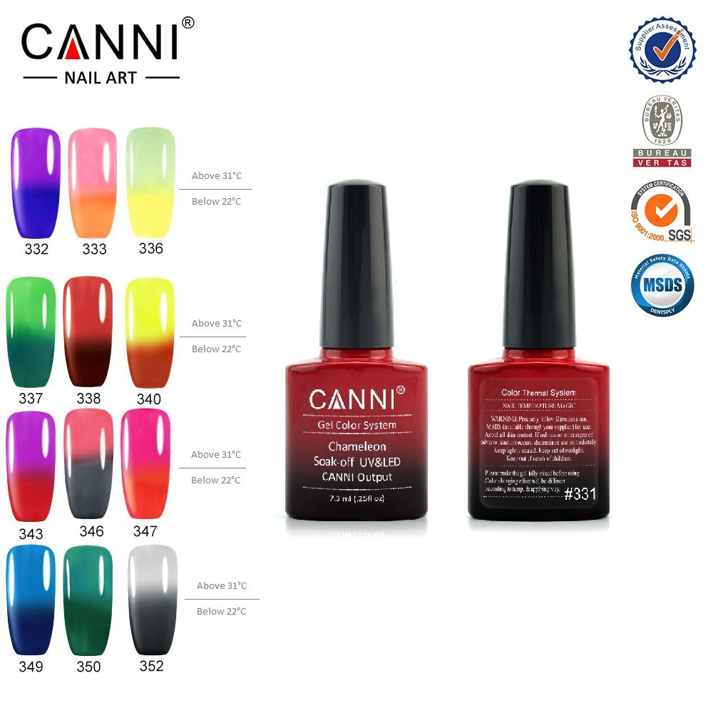 Amazon.com : CANNI 7.3 ml UV Color Changing Gel Nail Polish, Set of ...